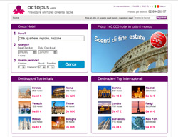 Sito web di Octopustravel